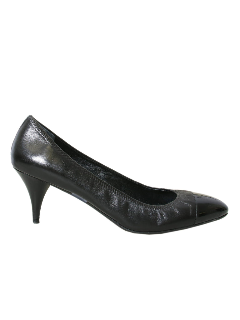 Prada Round Toe Leather Pumps