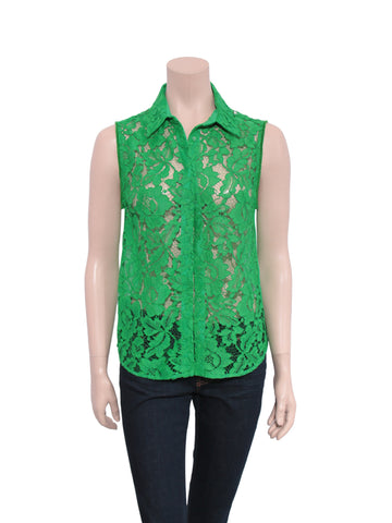 Sandro Sleeveless Lace Blouse