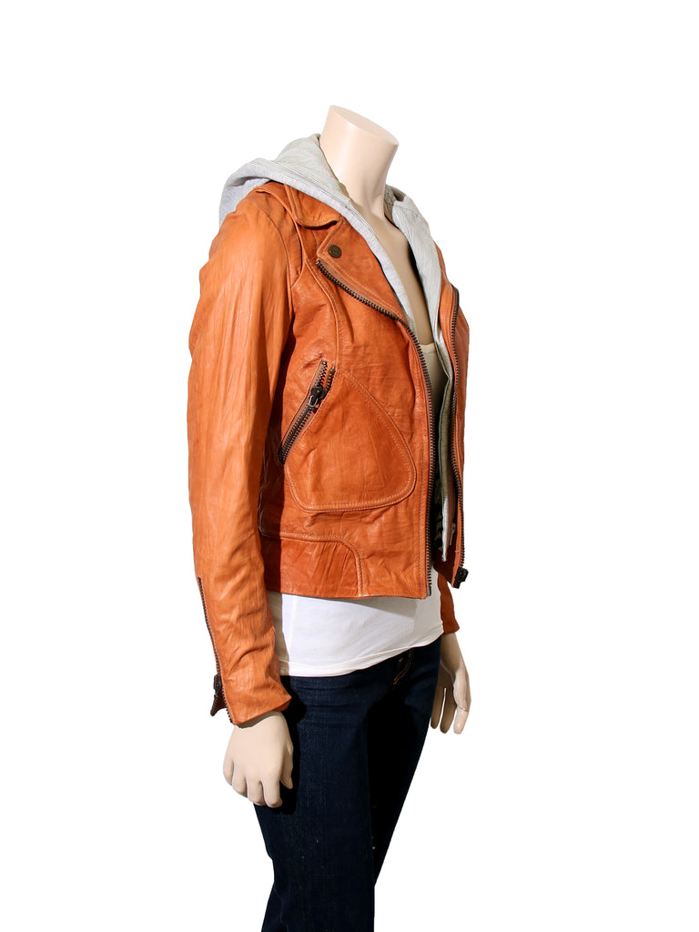 Doma Hooded Leather Jacket