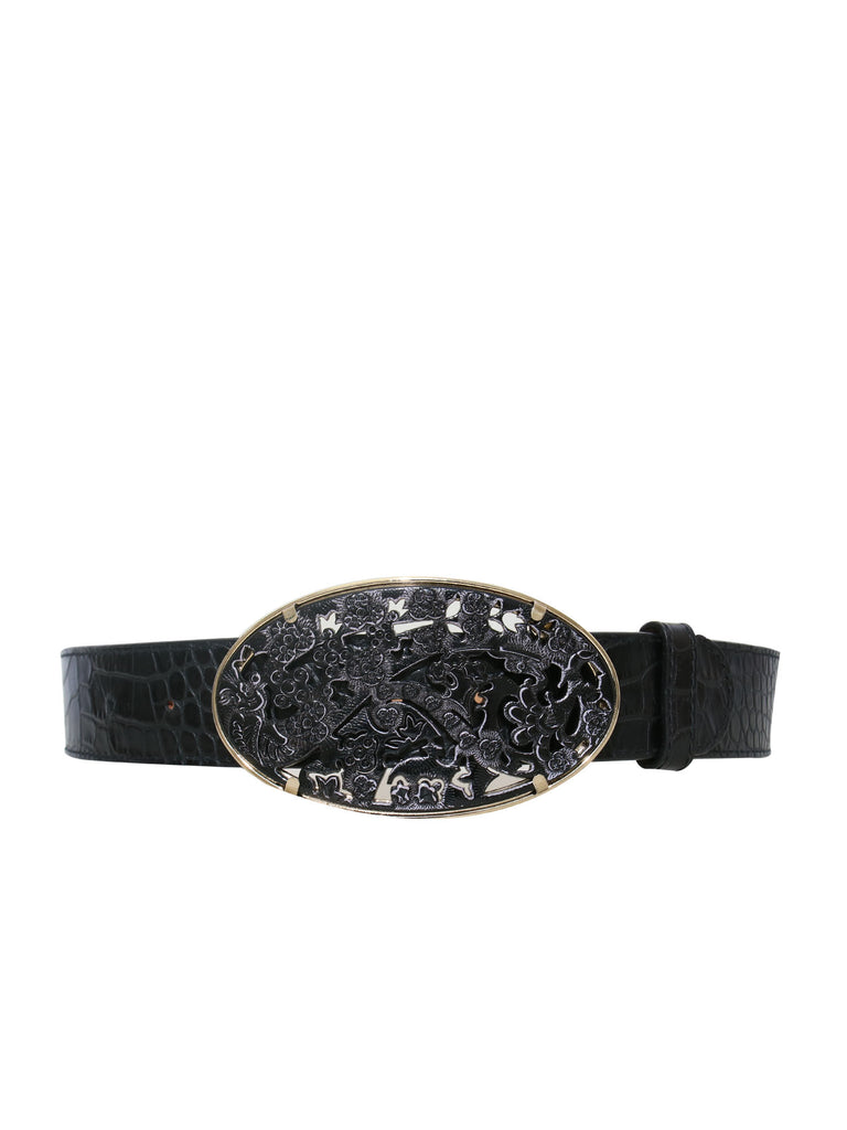 Etro Embossed Leather Belt