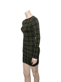 Torn by Ronny Kobo Plaid Stretch Dress