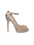 Jimmy Choo Suede Snakeskin-Accented Pumps