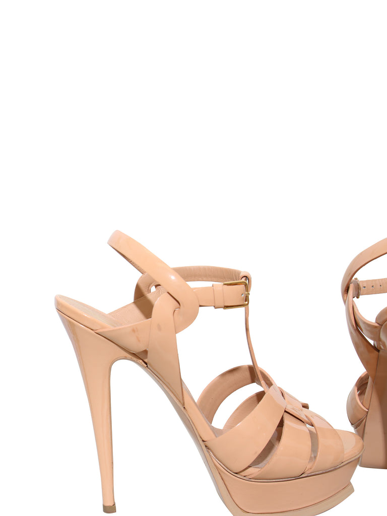 Yves Saint Laurent Leather Tribute Sandals