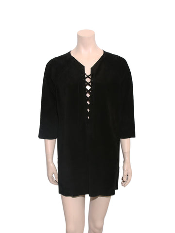 Isabel Marant Lace-Up Suede Dress