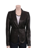 Rachel Zoe Leather Snakeskin-Embossed Blazer