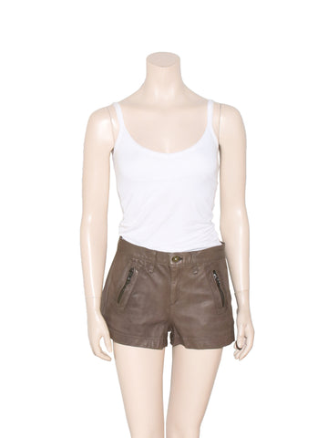Rag & Bone Leather Shorts