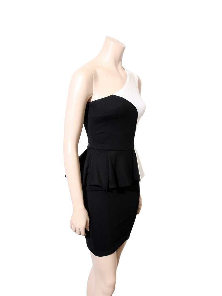 Torn by Ronny Kobo One Shoulder Peplum Dress