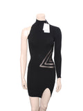 Geometric Intarsia Mini Dress
