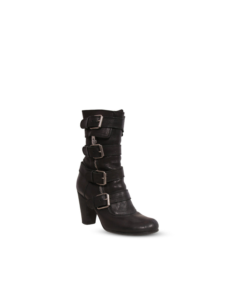 Chloe Leather Buckle Boots