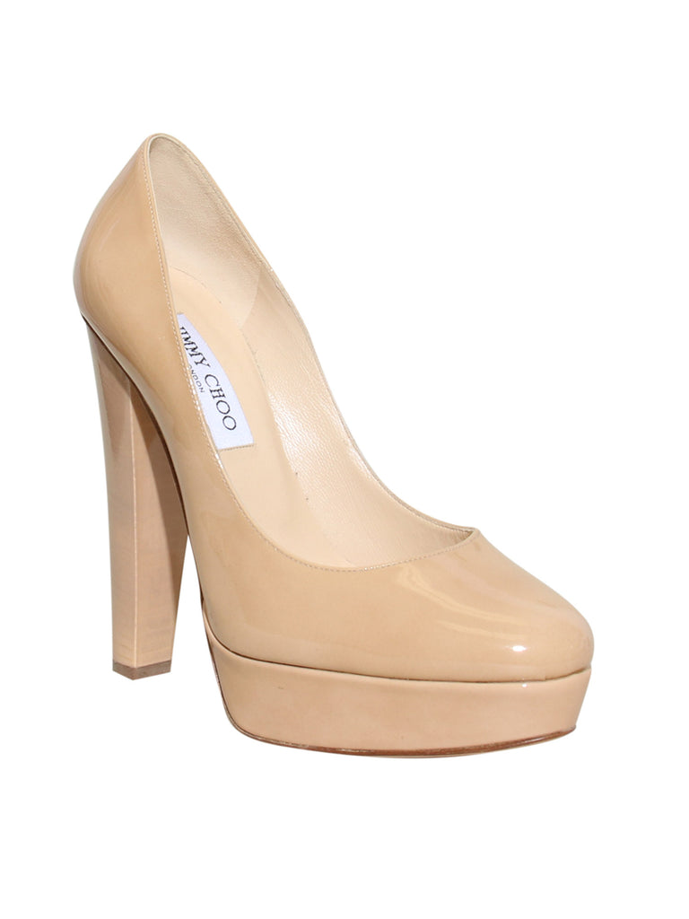Jimmy Choo Platform Leather Pumps