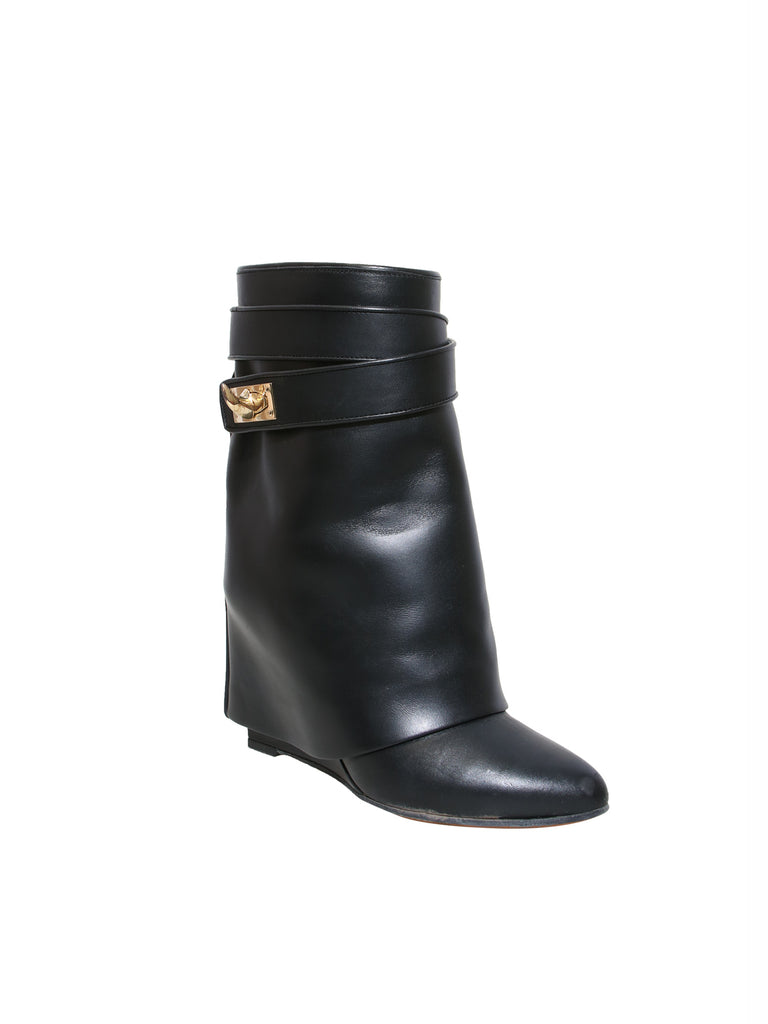 Givenchy Shark Lock Wedge Ankle Boots