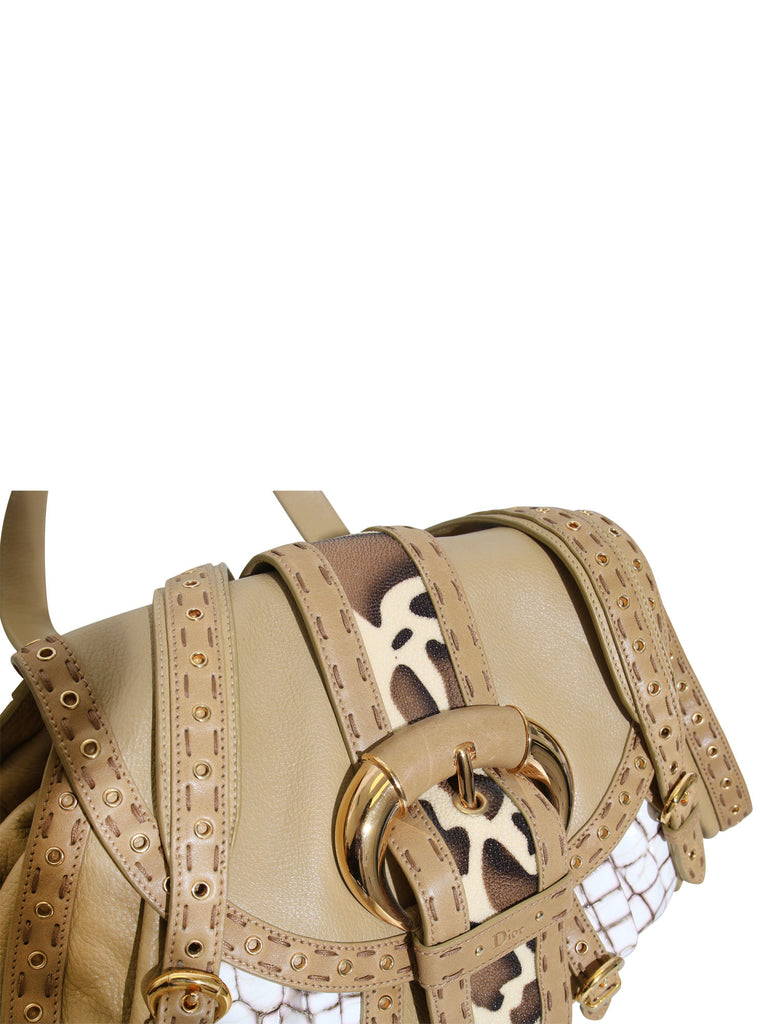 Christian Dior Savane Chic Leather Flap Bag