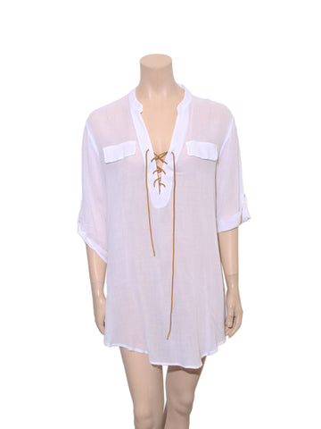 Eberjey Lace-Up Tunic