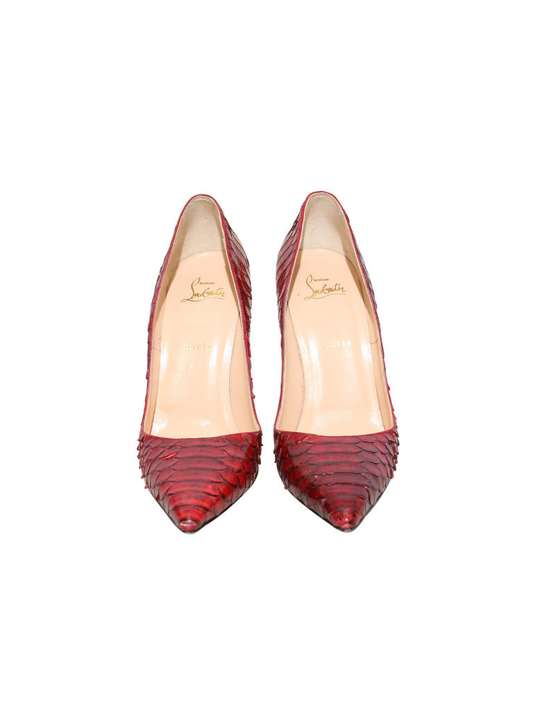 Christian Louboutin So Kate 120 Snakeskin Pumps