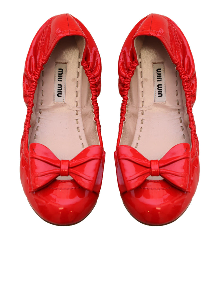 Miu Miu Patent Leather Flats