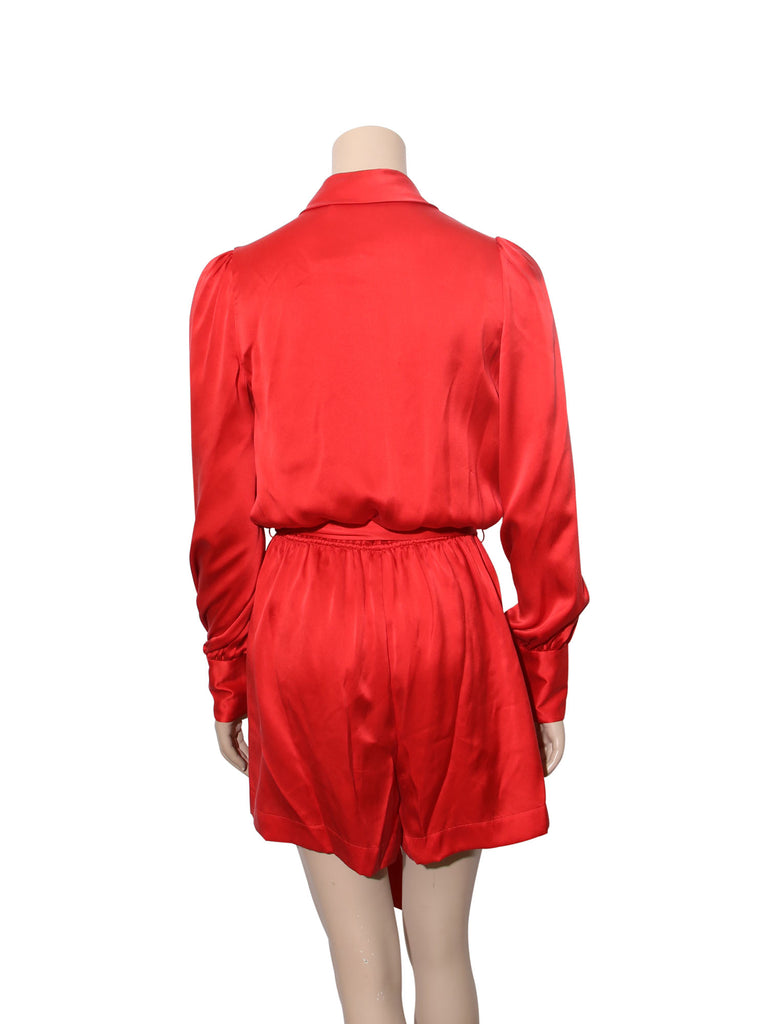 Zimmermann Silk Wrap Playsuit