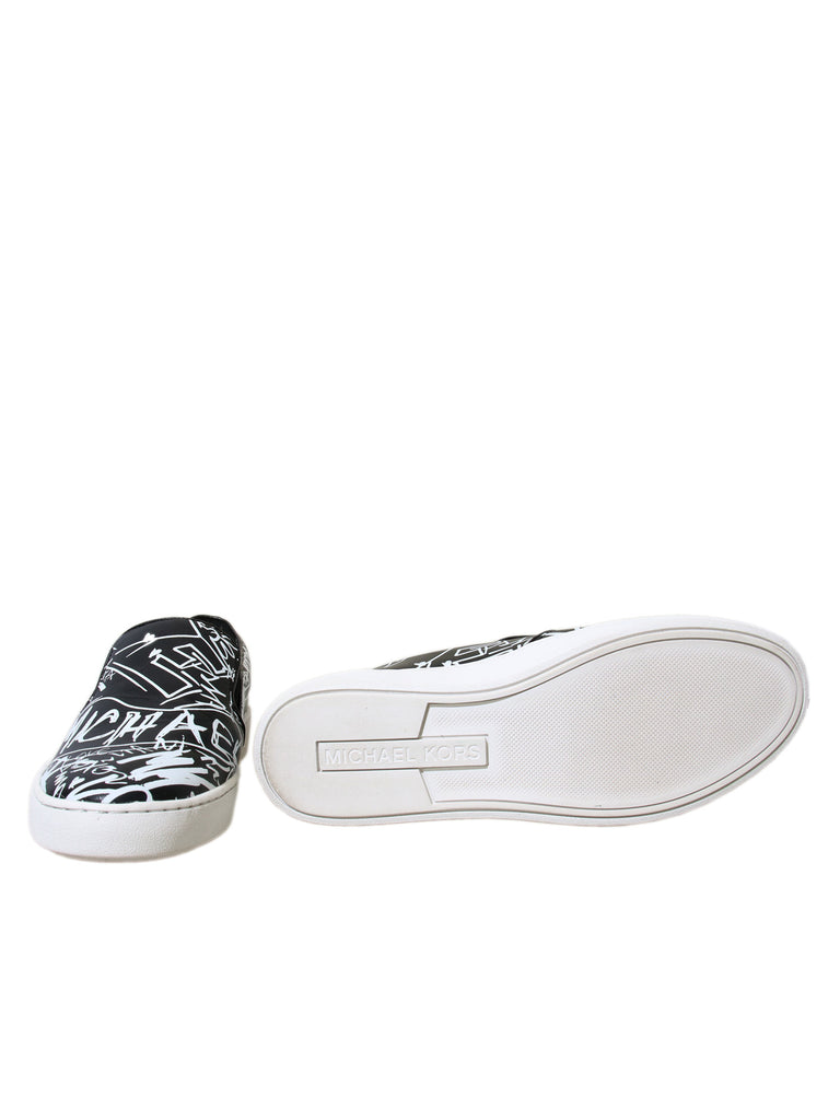 Michael Kors Keaton Graffiti Leather Slip-On Sneaker