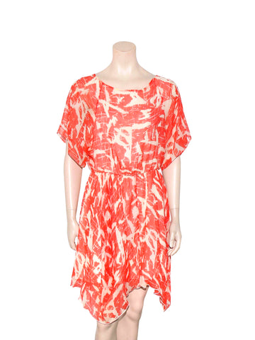 alice + olivia Printed Silk Dress
