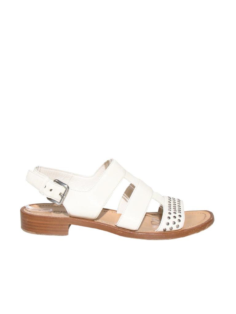 Miu Miu Studded Leather Sandals