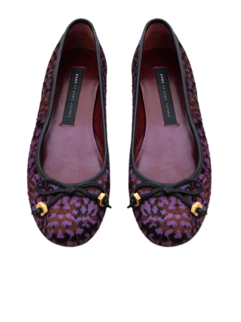 Marc by Marc Jacobs Printed Calf-Hair Flats