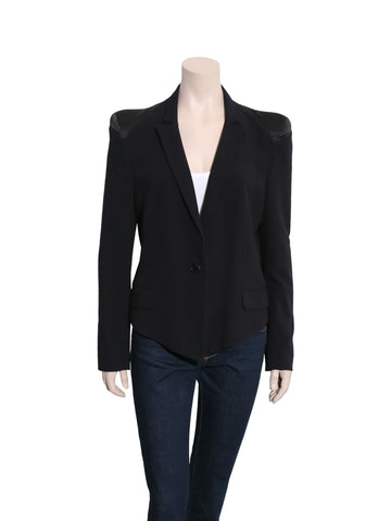 Malene Birger Satin Shoulder Blazer