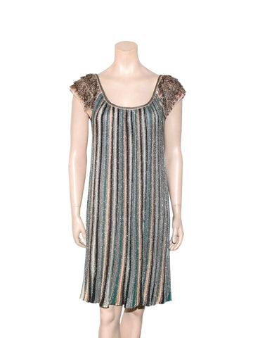 Missoni Fringe Shimmer Knit Dress