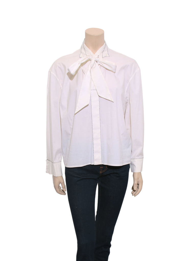 Yves Saint Laurent Bow Shirt