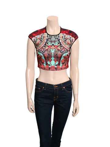 Clover Canyon Printed Cropped Top