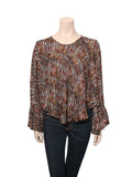 Iro Printed Silk Top