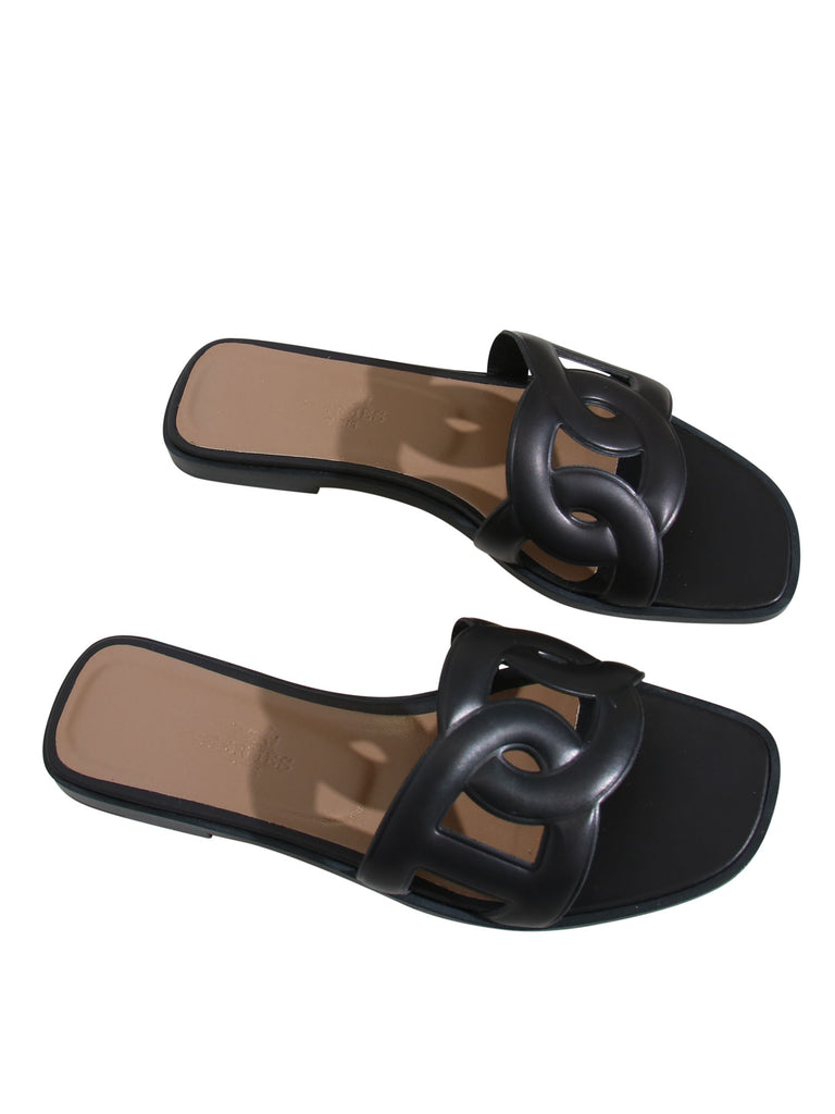 Hermes Omaha Leather Sandals