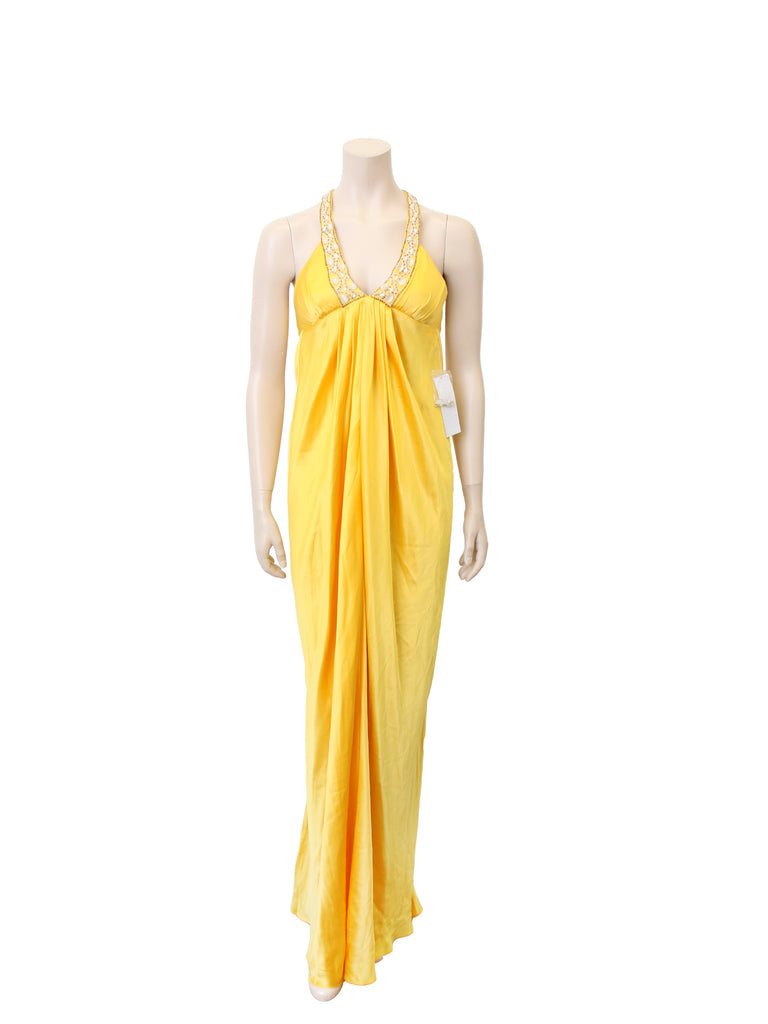 Marc Bouwer Silk Embellished Gown