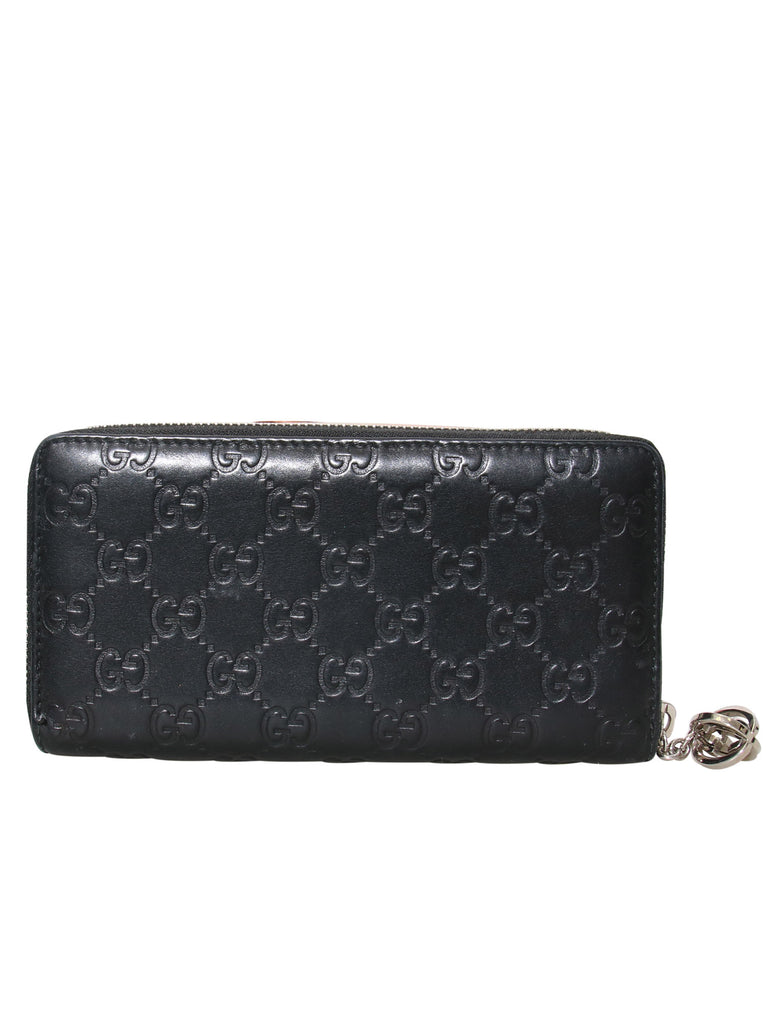 Gucci Guccissima Zip-Around Leather Wallet