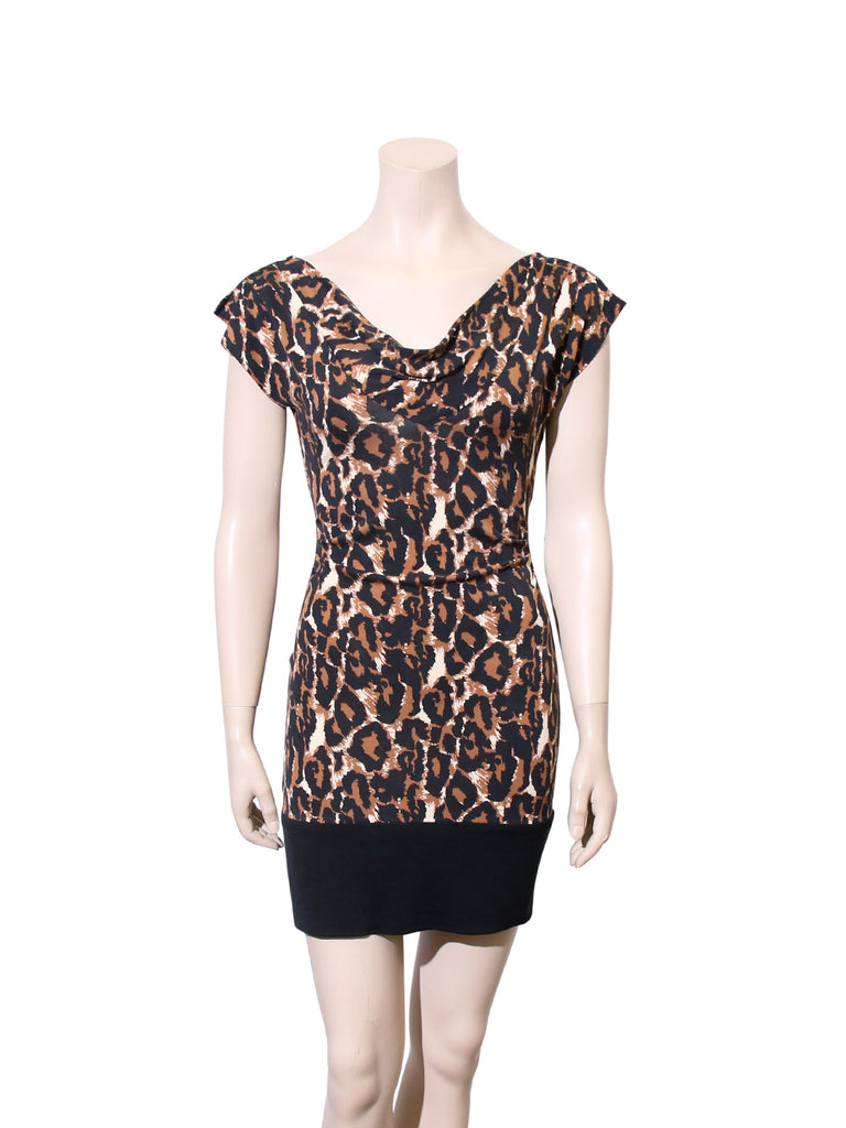 DVF Leopard Print Zeke Dress with Band