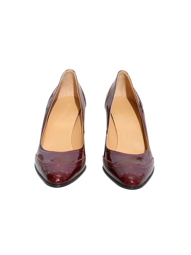 Hermes Patent Leather Pumps