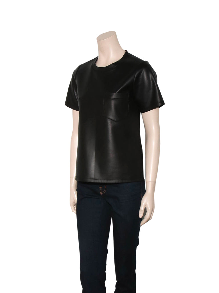 Jonathan Simkhai Faux Leather Top