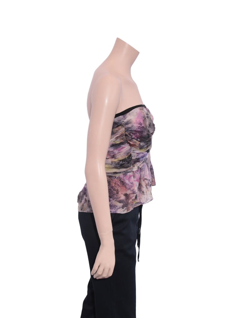 Elizabeth and James Silk Strapless Top