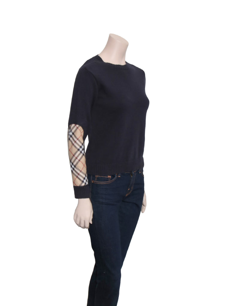 Burberry Check Elbow Sweater