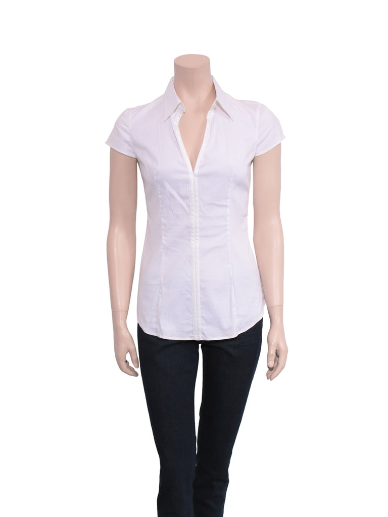 Prada Short-Sleeve Blouse