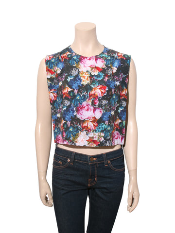 Sandro Silk Floral Top