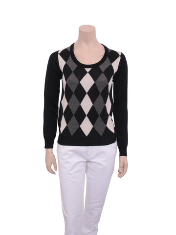 Prada Argyle Wool Sweater