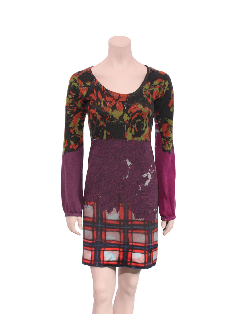 Etro Silk Cashmere Printed Dress