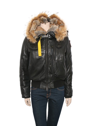 Parajumpers Leather Down Bomber Coat