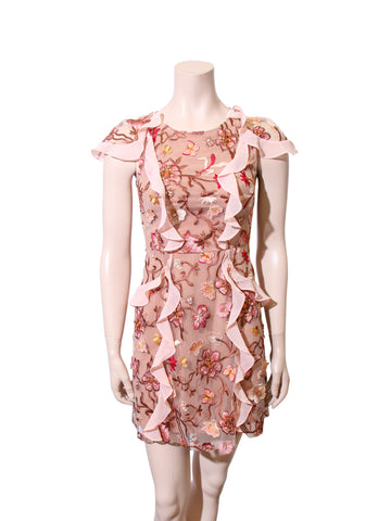For Love & Lemons Botanic Short Sleeve Dress