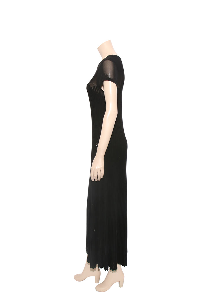 Chanel Wool Knit Maxi Dress