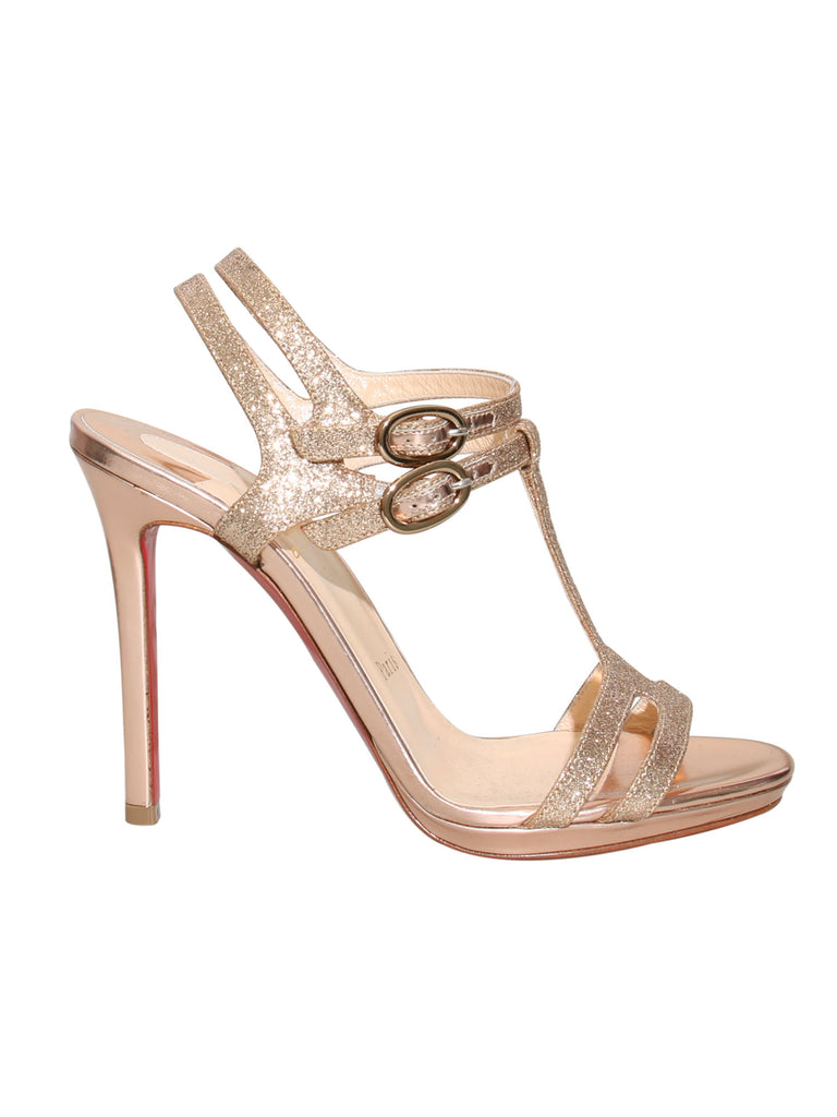 Christian Louboutin Glitter Strappy Sandals