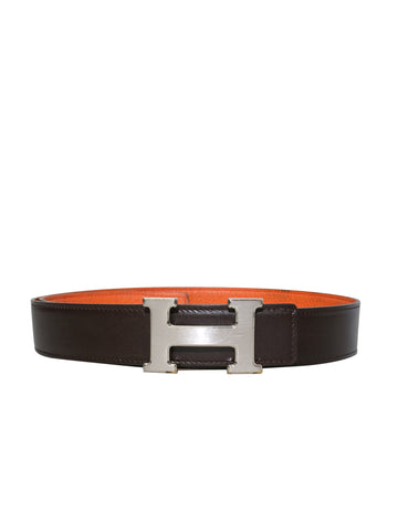 Hermes Reversible Leather H Belt
