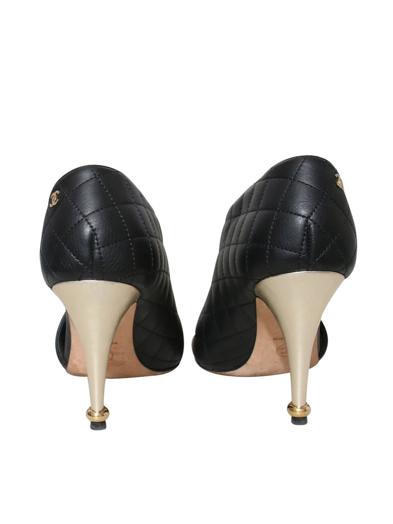 Chanel Quilted Leather D'Orsay Pumps