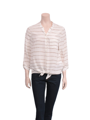 Joie Silk Button-Up Blouse