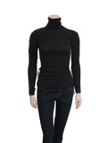 Dolce & Gabbana Ruched Turtleneck Sweater