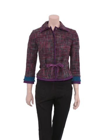 Alberta Ferretti Philosophy Tweed Blazer